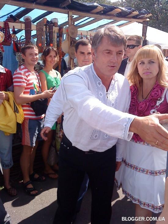 Ющенко на Сорочинцах 2009