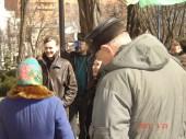 На митинге возле Облсовета