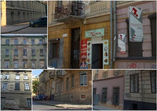 Львов вандализм фасады зданий граффити