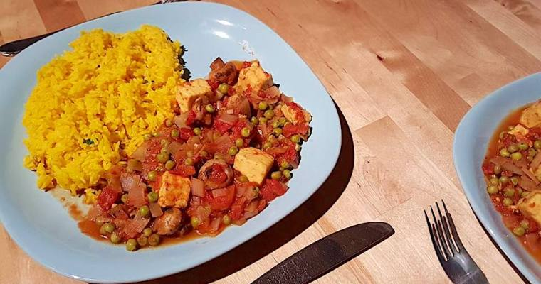 'Cheesy peas' curry