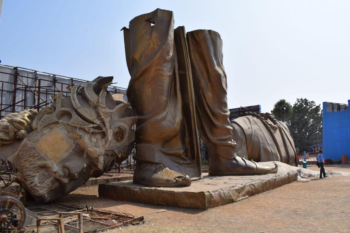 Ballal Dev statue destroyed photos