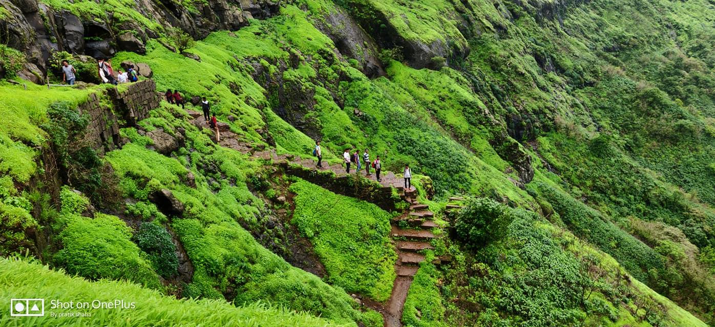 rajgad trekking pics