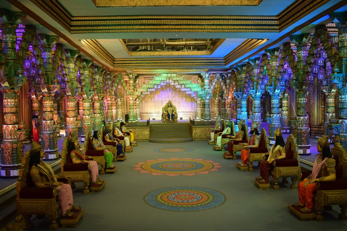 Mahabharat set in Ramoji film city Hyderabad