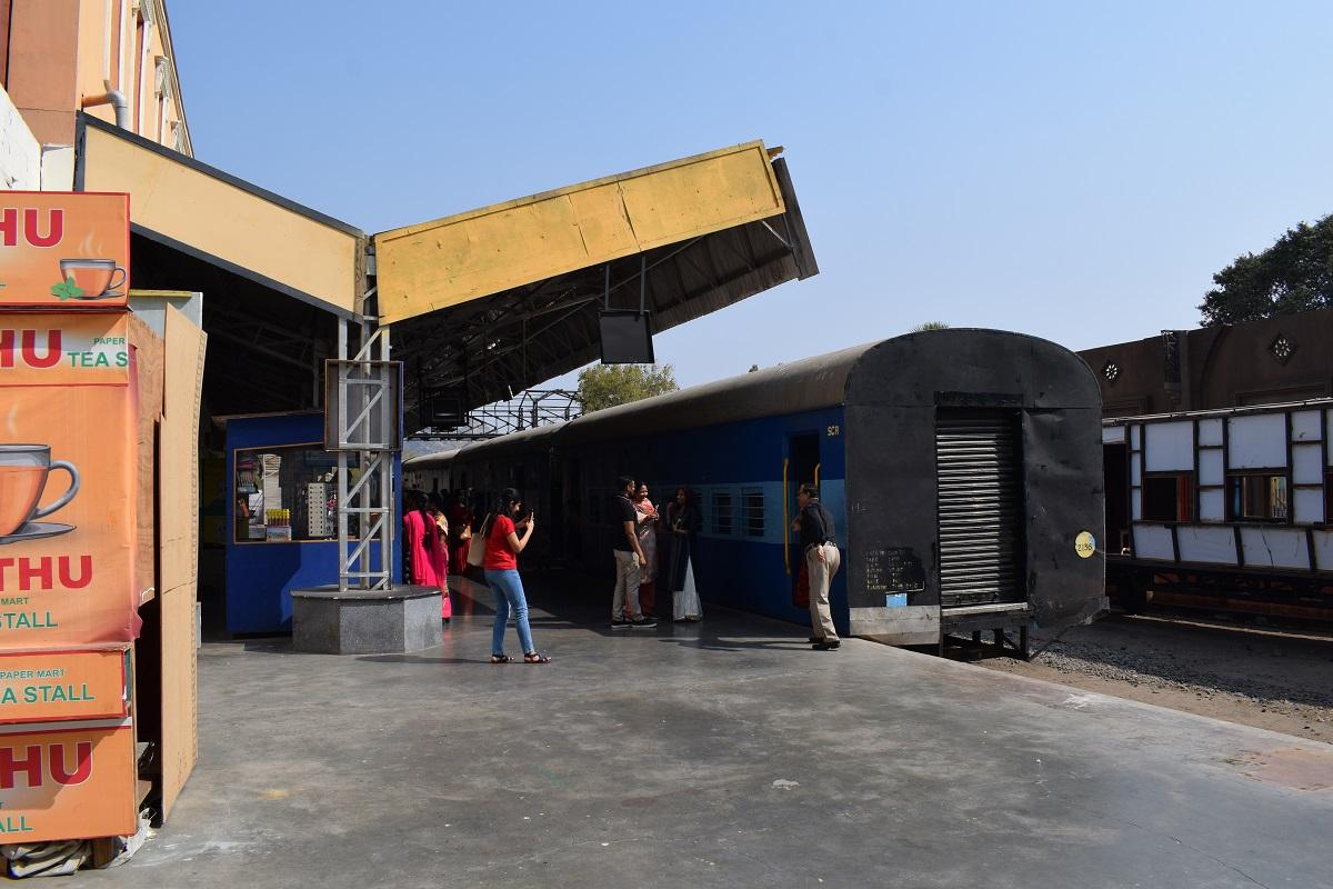 Low budget railway station set in Ramoji