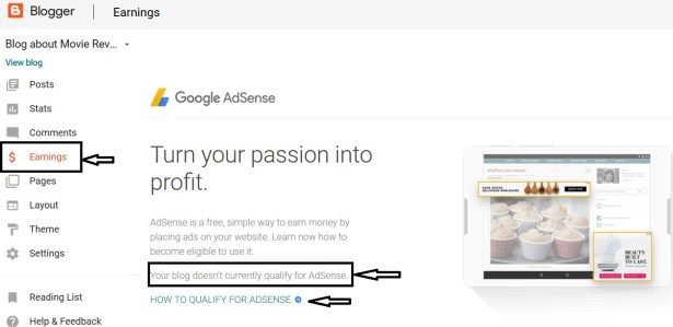 How to apply for adsense on free blogger blog How to create a blog to make money?Make money blogging.