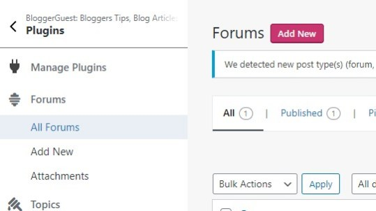 How to create forum using bbpress plugin?