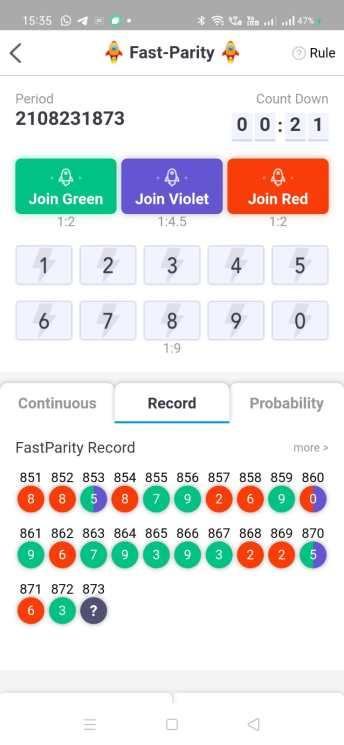 Fast Parity - fastest color prediction game.