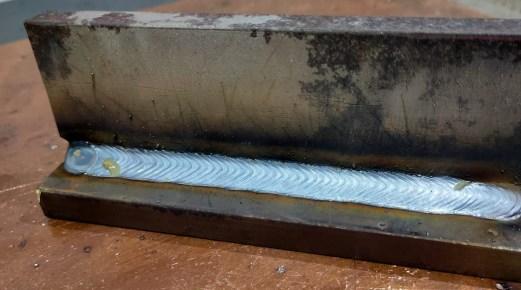 Fronius Synchropulse on steel welding.