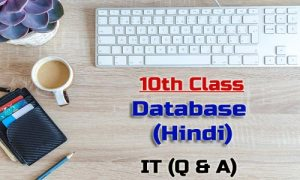 10th Class Database Hindi