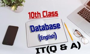10th Class - Database (English)