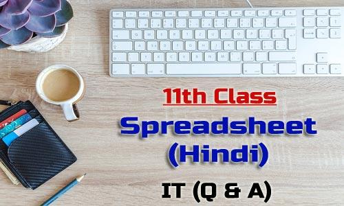 11th Class Spreadsheet Hindi