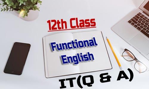 12th class Functional English