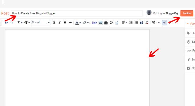 publish a Blog