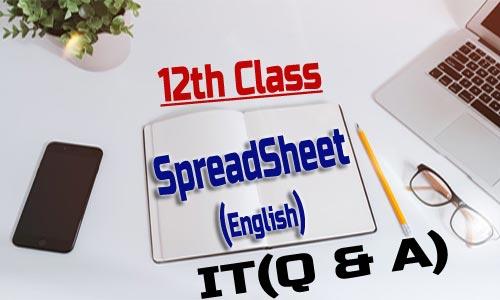 12th Class Spreadsheet