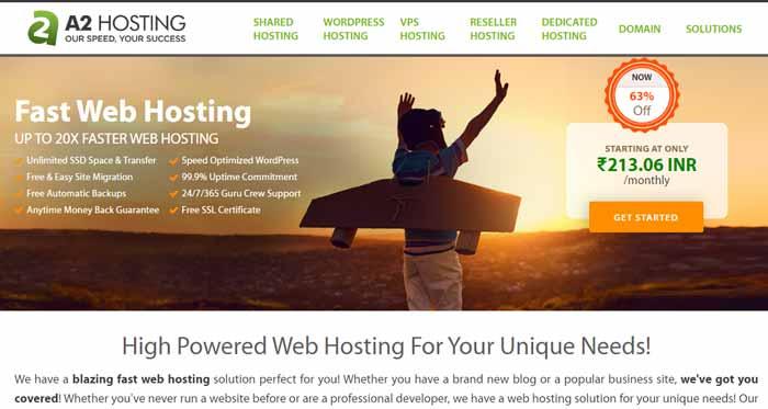 A2hosting Best WordPress Web Hosting Plans