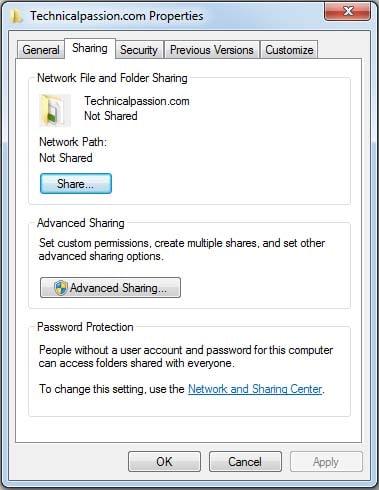 Sharing Folder-Calc