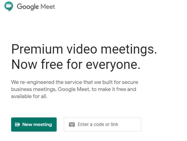 Google Meet For Desktop
