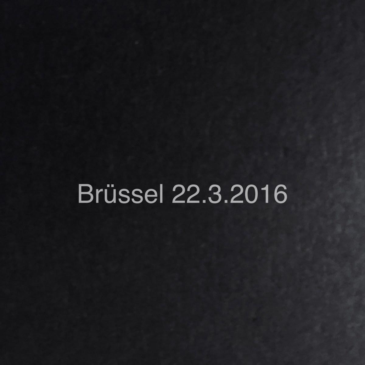 Brüssel 22.3.2016 – Beitrag ohne Fotos