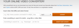 homepage convert2mp3.net