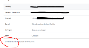 tutorial back up data facebook 2