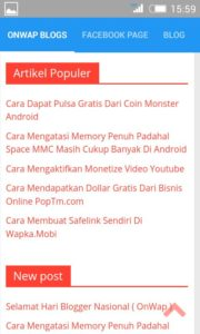 Aplikasi Tutorial Blog, Wapka, Android dan HTML ( Onwap Blog ) Playstore 1