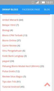 Aplikasi Tutorial Blog, Wapka, Android dan HTML ( Onwap Blog ) Playstore 3
