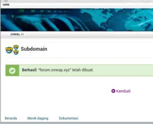 tutorial cara membuat subdomain di cpanel hosting 2