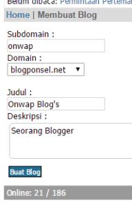 cara membuat blog baru di blog ponsel alternatif mywapblog