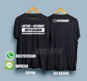 Kaos Internet + Laptop Auto Gajian, Pengangguran Premium Life