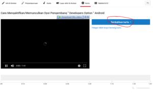 cara memasang kartu di video youtube 2