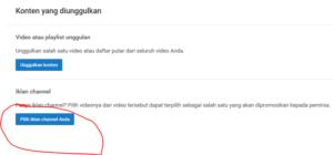 cara mengaktifkan kontent unggulan di youtube creator studio 1