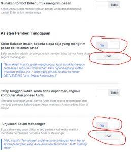 cara membuat balasan pesan otomatis di fanspage facebook untuk keperluan bisnis 2