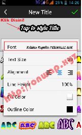 cara menambahkan dan install font di picsay pro android terbaru 3