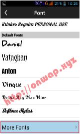 cara menambahkan dan install font di picsay pro android terbaru 4