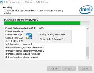 cara install asus intell android driver setup 7