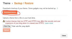 cara install template blogspot xml hasil download 1