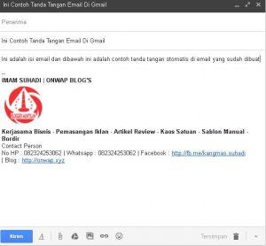 Cara Membuat Signature Di Gmail Secara Gratis Dan Mudah 3
