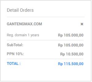 cara beli domain dan hosting bayar lewat indomaret terbaru 1