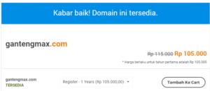 cara beli domain dan hosting bayar lewat indomaret terbaru