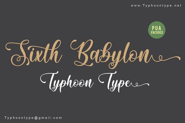 Download Kumpulan Font Latin Terbaru Terbaik 2019 Part 1 sixth_babylon