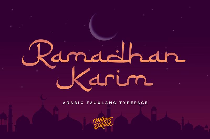 Kumpulan 5 Font Ramadhan 1441 Keren Terbaik Terbaru Part 1 Ramadhan Karim