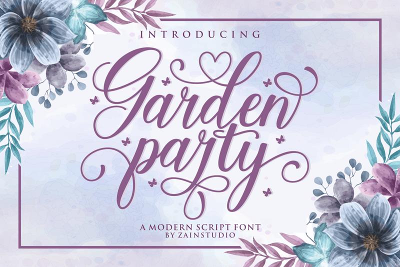 Kumpulan 5 Font Keren Terbaik Terbaru 2020 Part 2 Garden Party