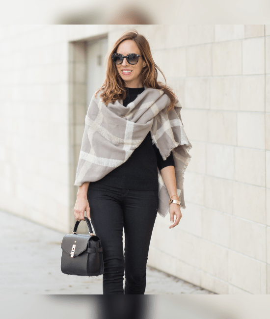 15 Ways To Wear A Blanket Scarf In The Fall