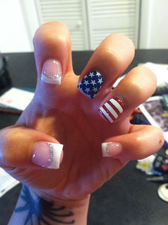 Red, White, And Blue Memorial Day Nails To Copy