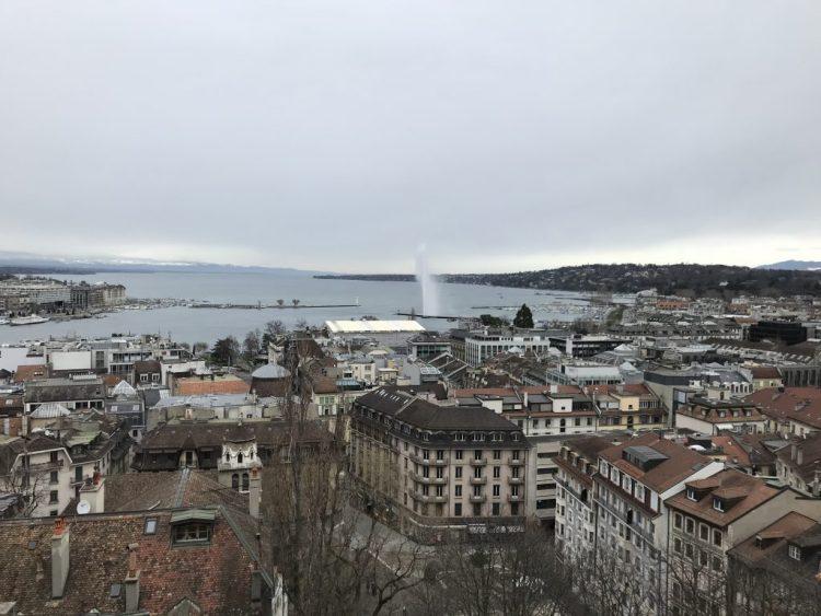 The famous Water Spout in Geneva, Switzerland