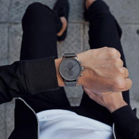 Voyager Monochrome Mesh Watch