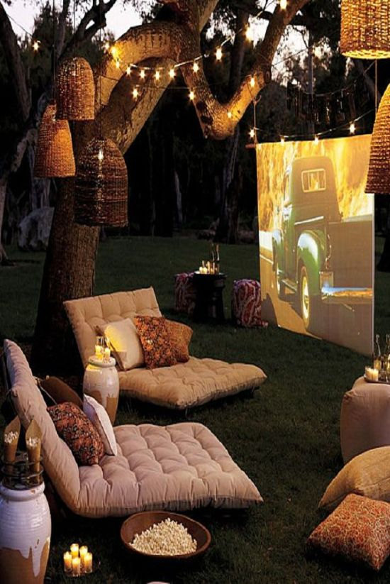 How To Turn Your Backyard Into A Movie Theater