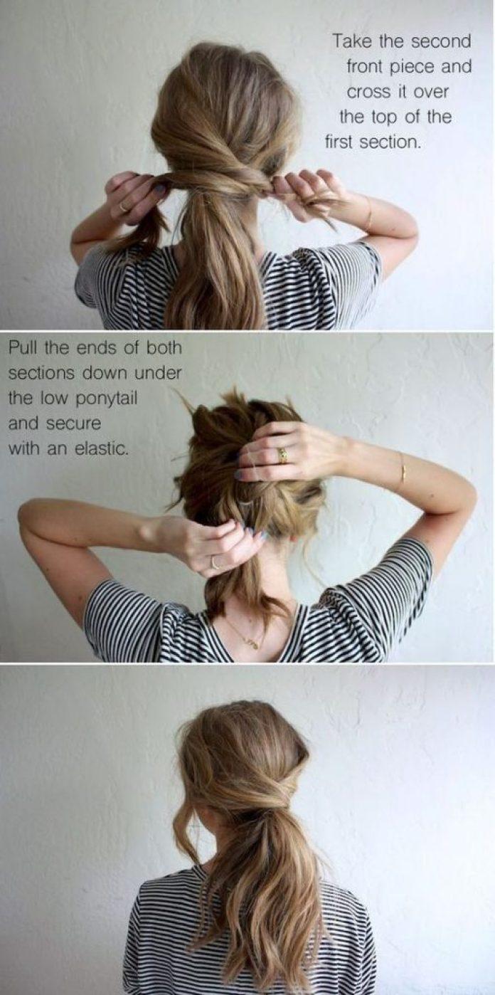 """10 mühelose Frisuren, die Sie rocken können, wenn Sie in Eile sind """"width ="""" 696 """"height ="""" 1398 """"data-recalc-dims ="""" 1"""