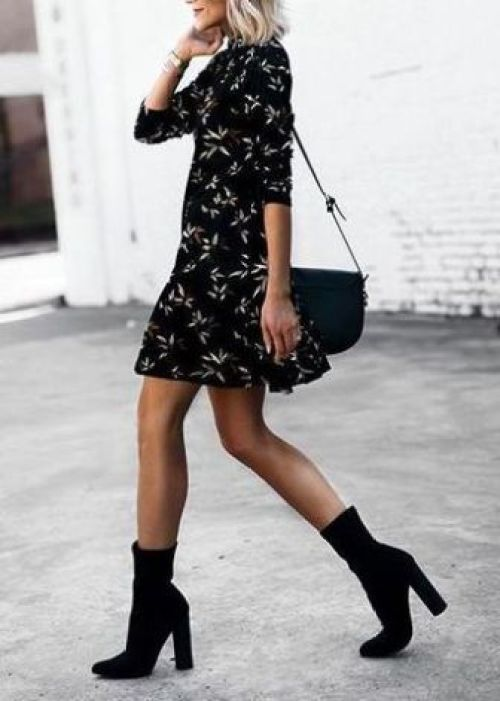 Dressy Heeled Ankle Boot
