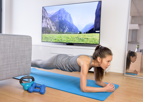 Excercise Hack- Working out during commercials can help build muscle, even just a little at a time.